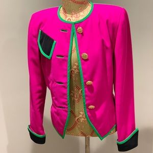 Pink and Green 90s Blazer